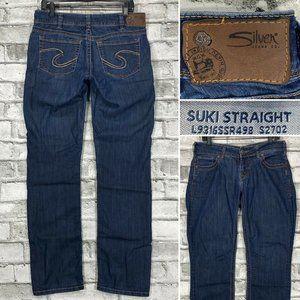 Silver Jeans Suki Straight Size 30 x 32 Jeans